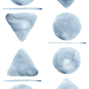 Large Watercolor Shapes