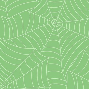 Spooky Spiderweb in Slimey Lime
