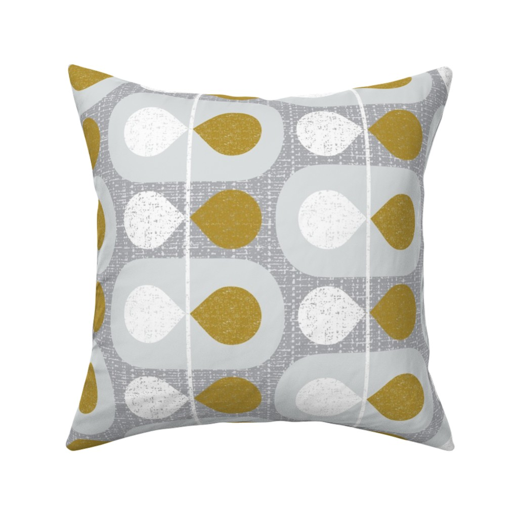 Catalan Throw Pillow featuring Mod Scandinavian Leaves by ottomanbrim