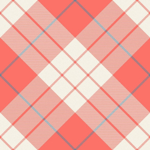 MacLeod Plaid ~ Coral Reef, Cosmic Latte, and Elzabeth ~ Textured and Rotated