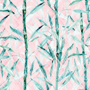 Bamboo on pink.