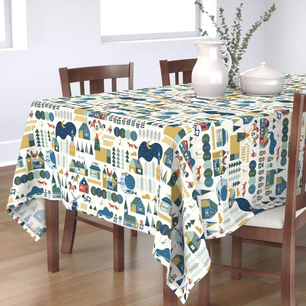 Bantam Rectangular Tablecloth featuring Scandinavian dream by hala_kobrynska