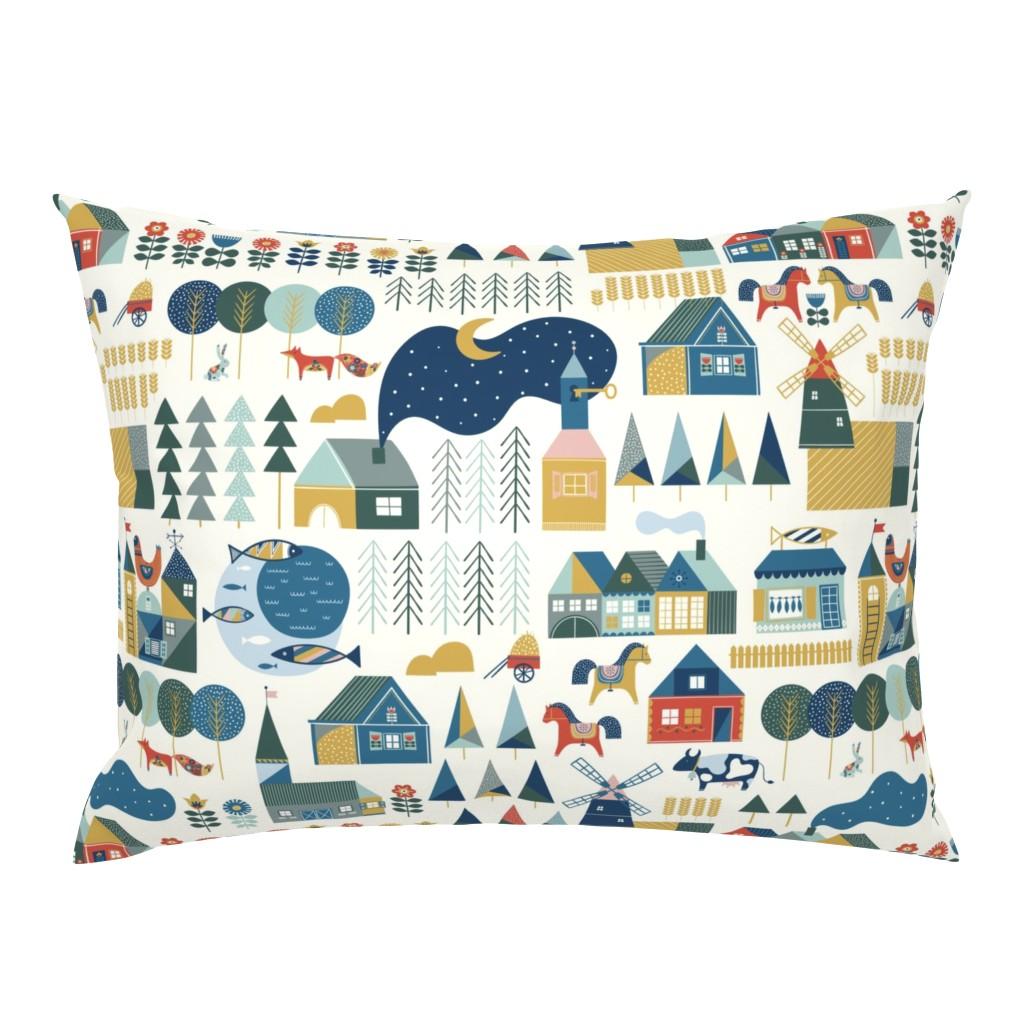 Campine Pillow Sham featuring Scandinavian dream by hala_kobrynska