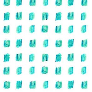 Aqua blue watercolor squares