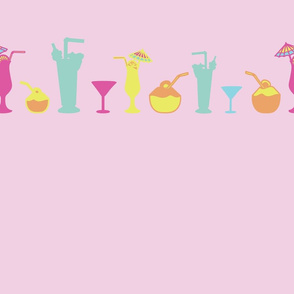 Pink_Tropical_Party_Border_Stock