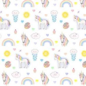 Rainbow Unicorn fabric