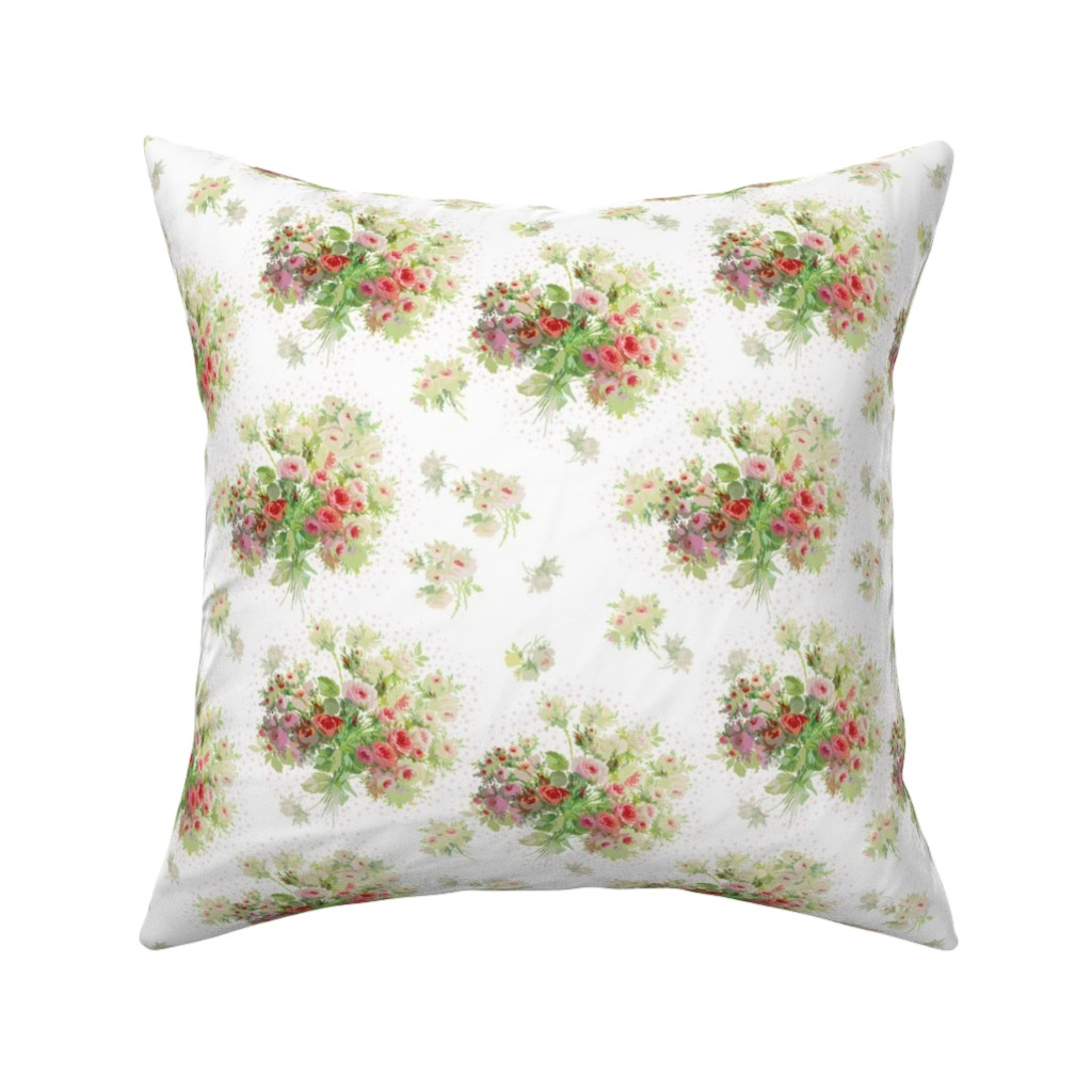Catalan Throw Pillow featuring Loveday white by lilyoake