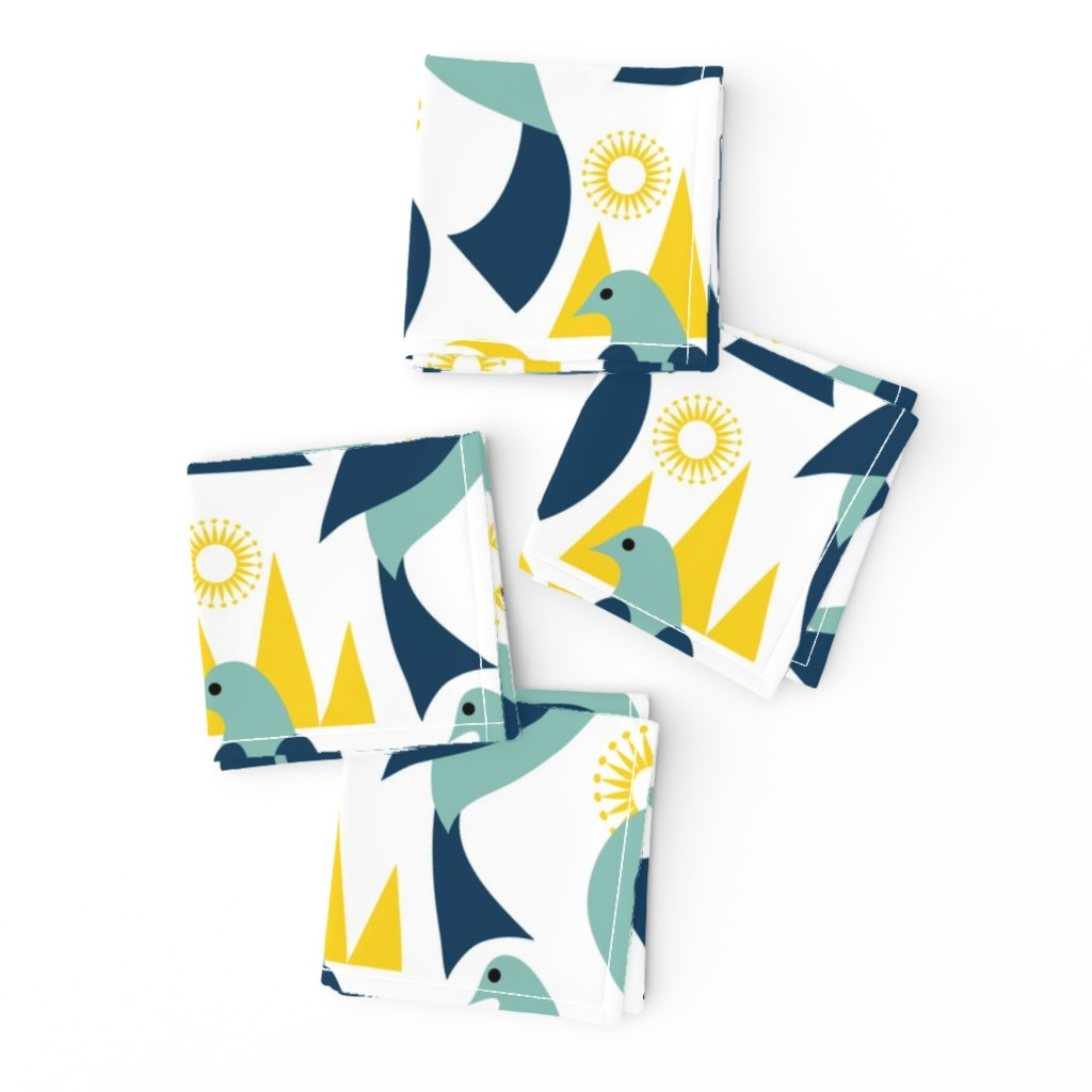 Frizzle Cocktail Napkins featuring Birds in the Land of the Midnight Sun by vo_aka_virginiao