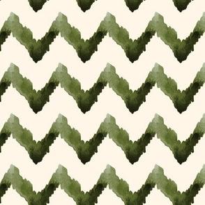 18-1i Forrest Green Watercolor Chevron on Cream _ Miss Chiff Designs