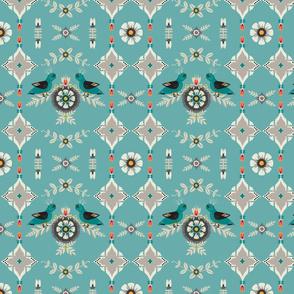Birds Scandinavian Geometric Floral