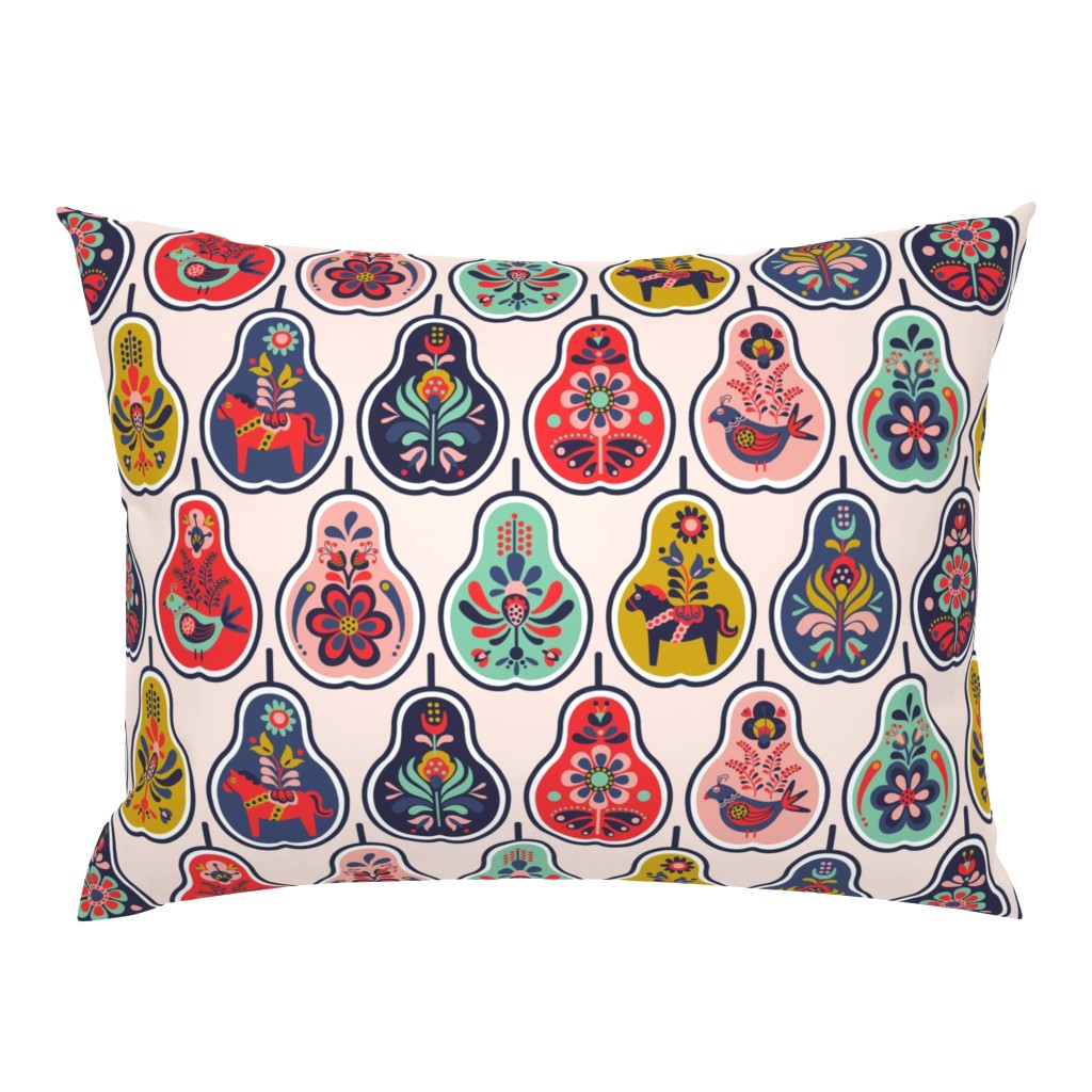 Campine Pillow Sham featuring Scandinavian Smorgas-pear-d by nanshizzle