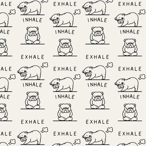 Inhale Exhale English Bulldog