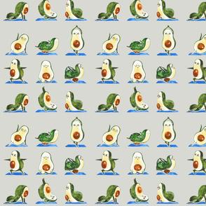 Avocado Yoga Watercolor