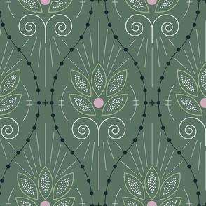 Scandinavian Floral in Blue