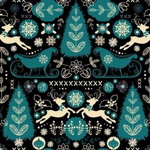 Scandinavian Snowy Winter Christmas