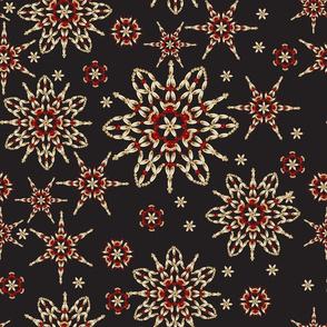 Snowflakes beads pattern