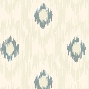 18-1c Medallion Ikat Cream Slate Blue Olive Green _ Miss Chiff Designs