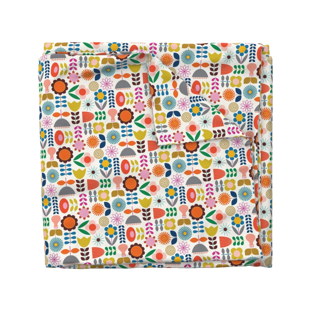 Wyandotte Duvet Cover featuring Mod Scandinavian Garden by katerhees