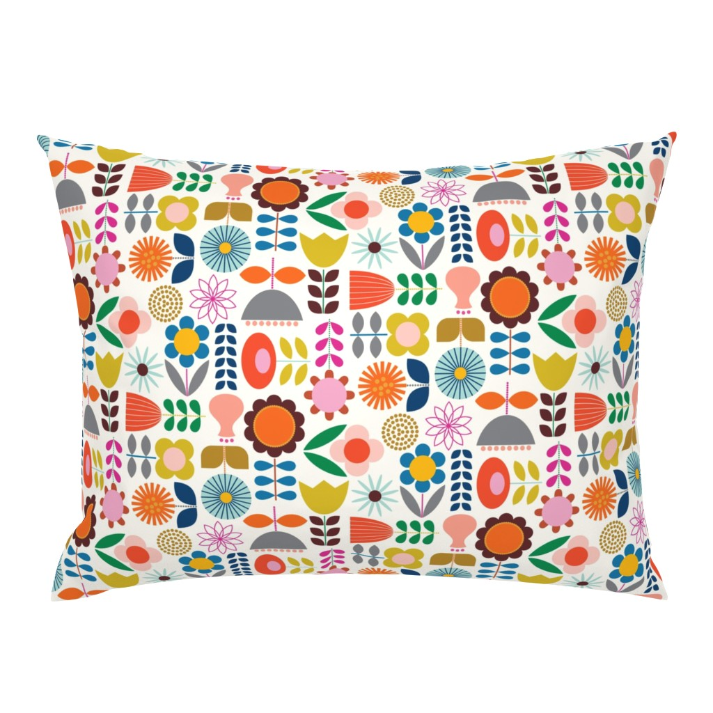 Campine Pillow Sham featuring Mod Scandinavian Garden by katerhees