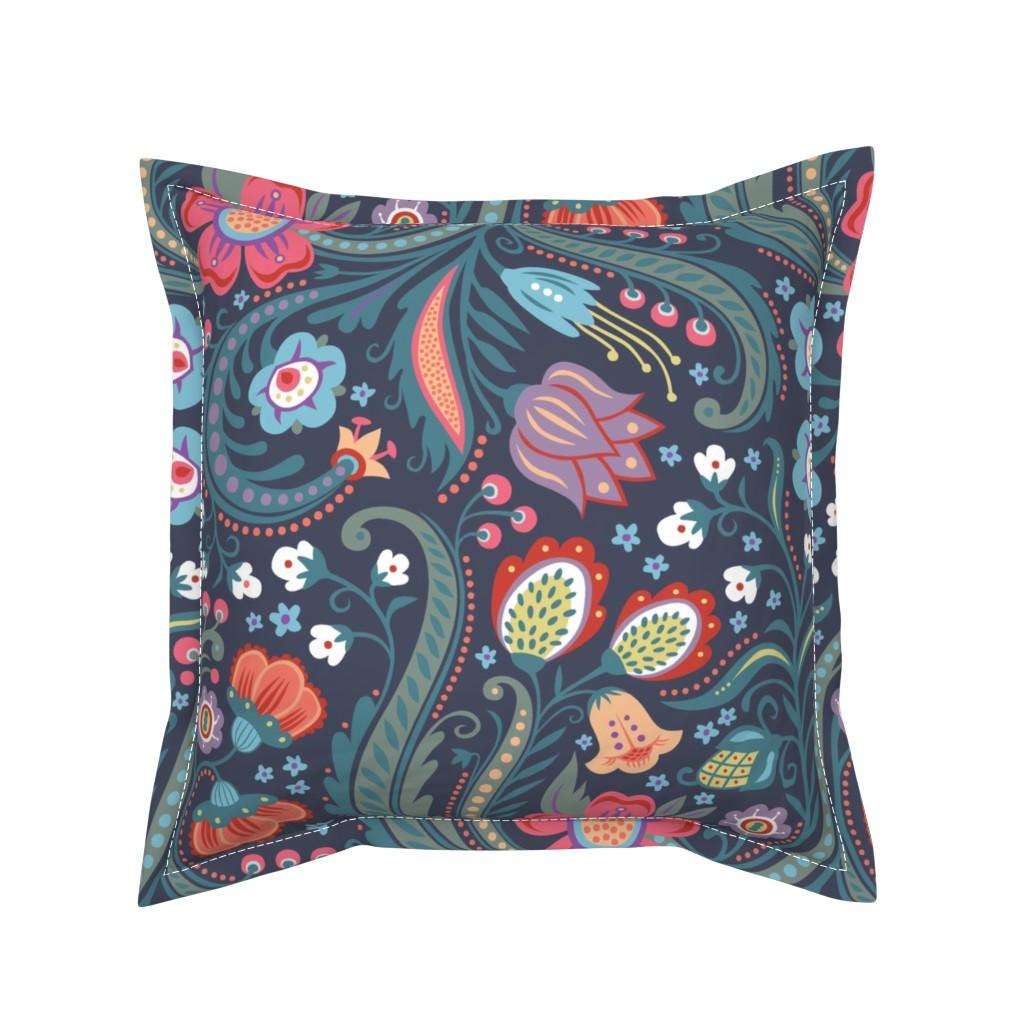 Serama Throw Pillow featuring Skandelska by kokara