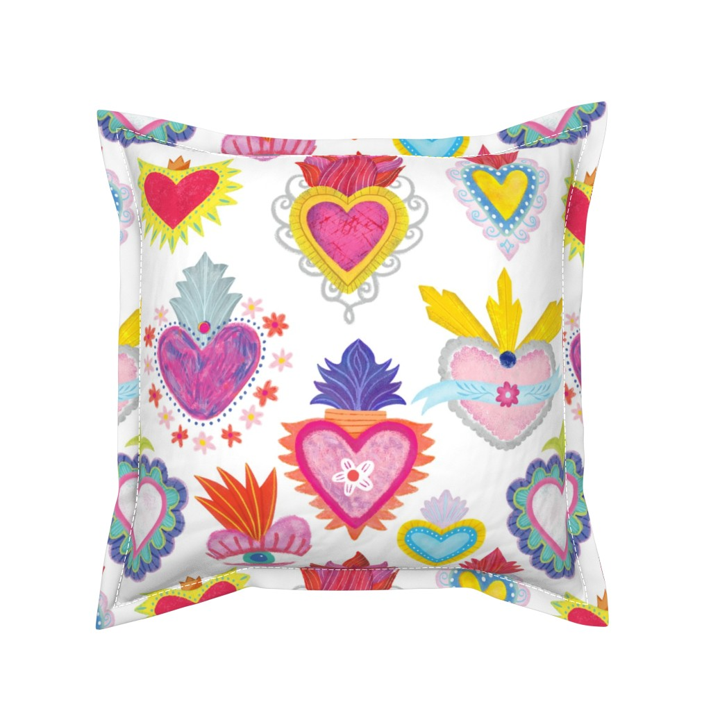 Serama Throw Pillow featuring Corazon by quietly_fiery
