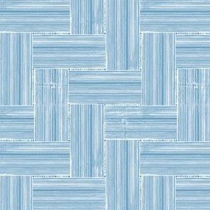 Wickerwork Woven Construction Blue