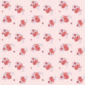 polka dots roses