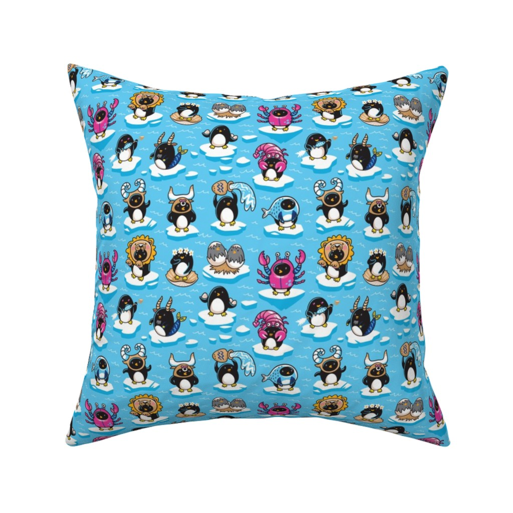 Catalan Throw Pillow featuring Zodiac Signs by penguinhouse