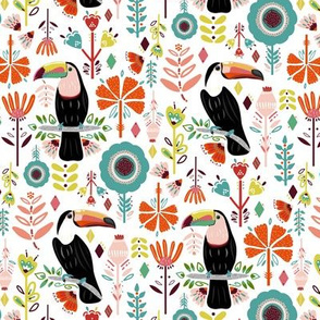 Colorful Scandinavian Toucans (Small version)