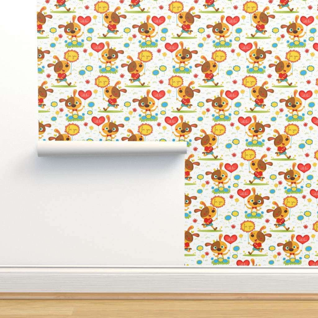 Isobar Durable Wallpaper featuring Doggy Valentine by gnoppoletta