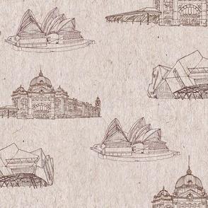 Iconic Buildings Melbourne Sydney