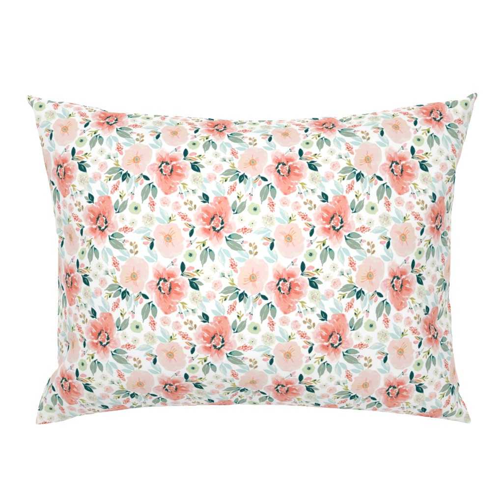 Campine Pillow Sham featuring Tiger-Lily-Summer 6x6 by indybloomdesign