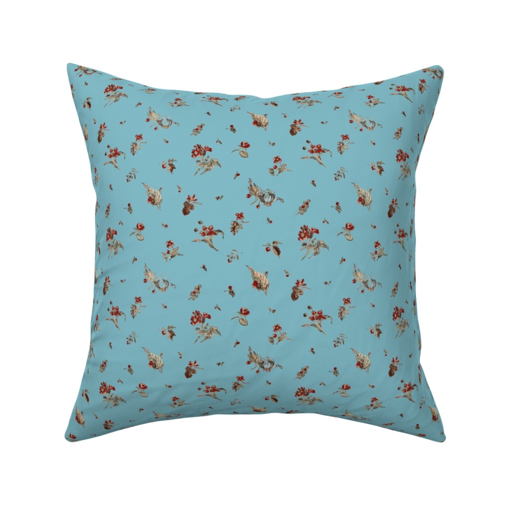 Catalan Throw Pillow featuring French Sprigs Madonna by amyvail