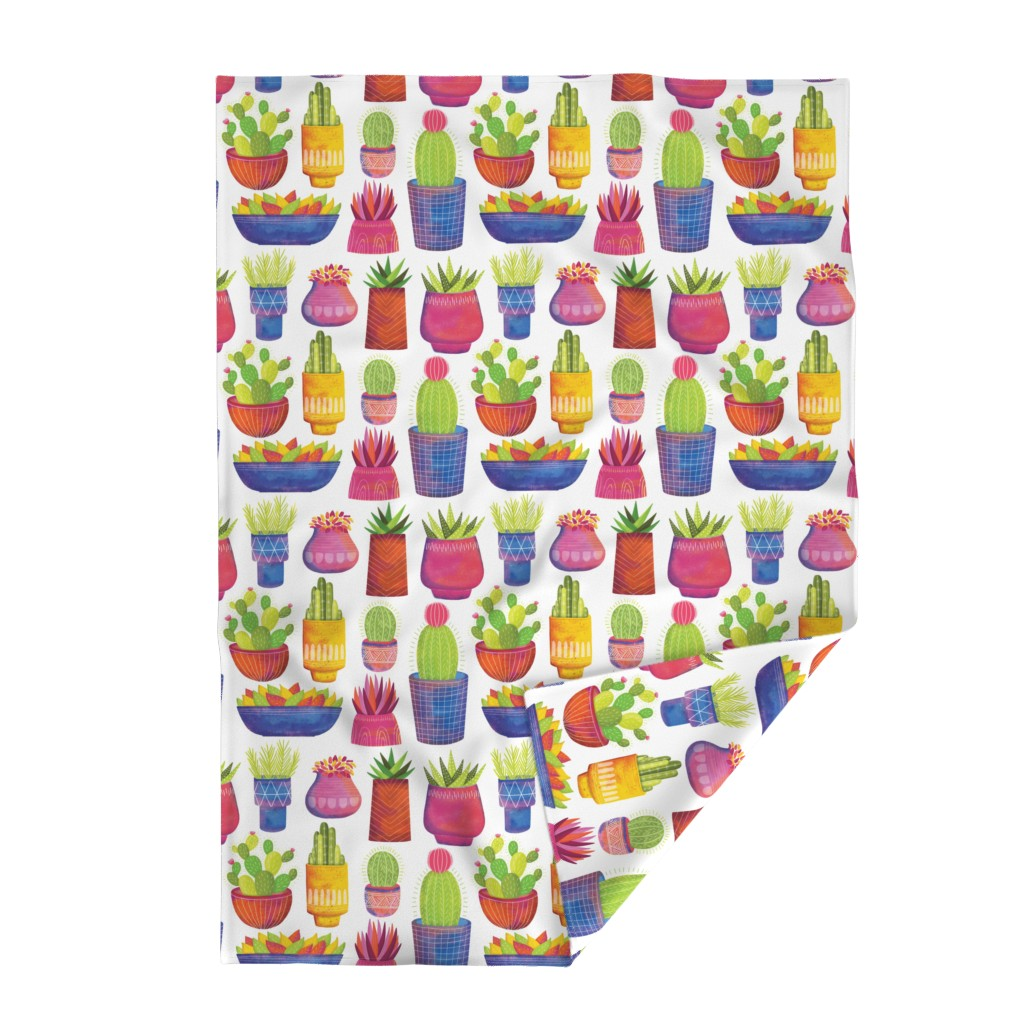 Lakenvelder Throw Blanket featuring Cactus by quietly_fiery