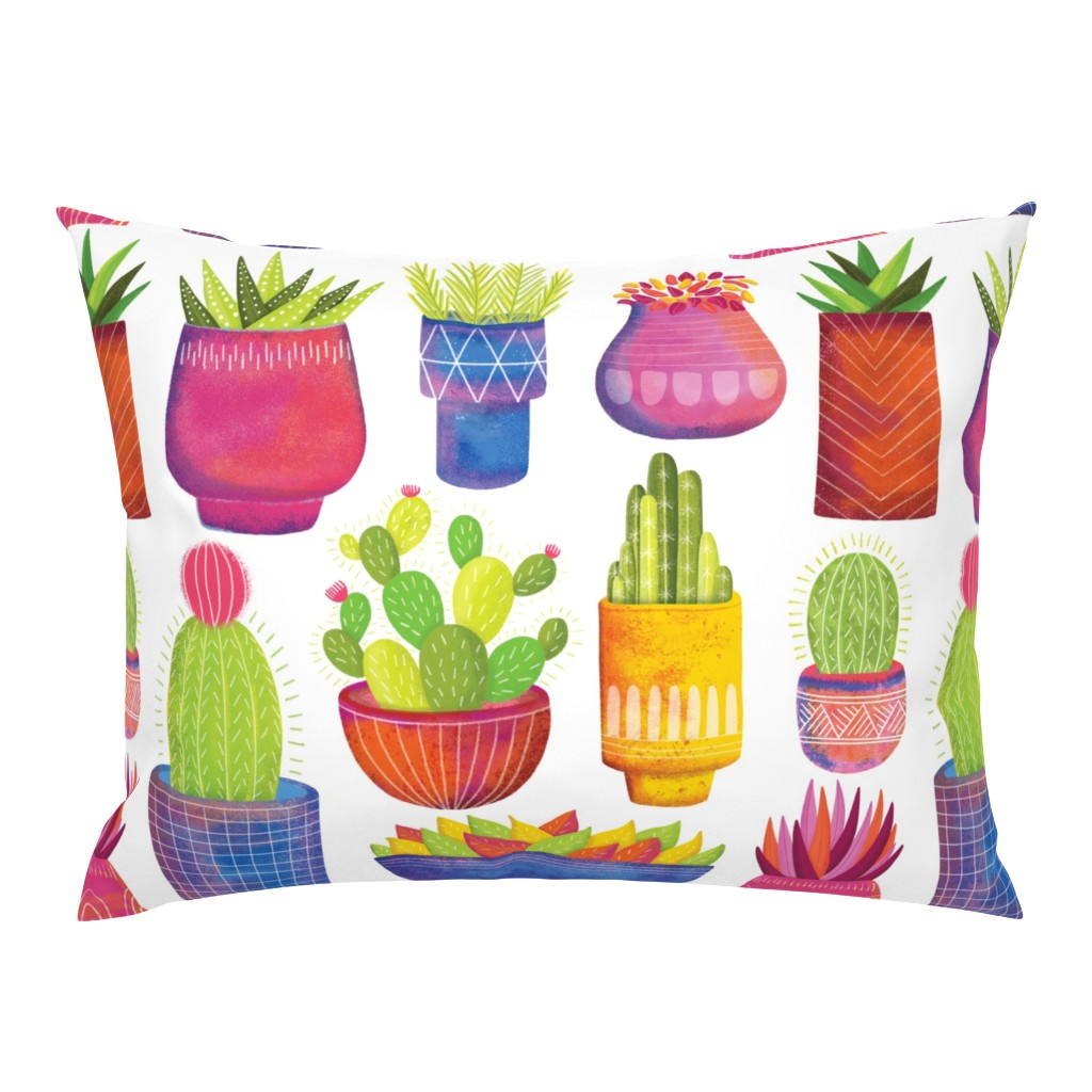 Campine Pillow Sham featuring Cactus by quietly_fiery