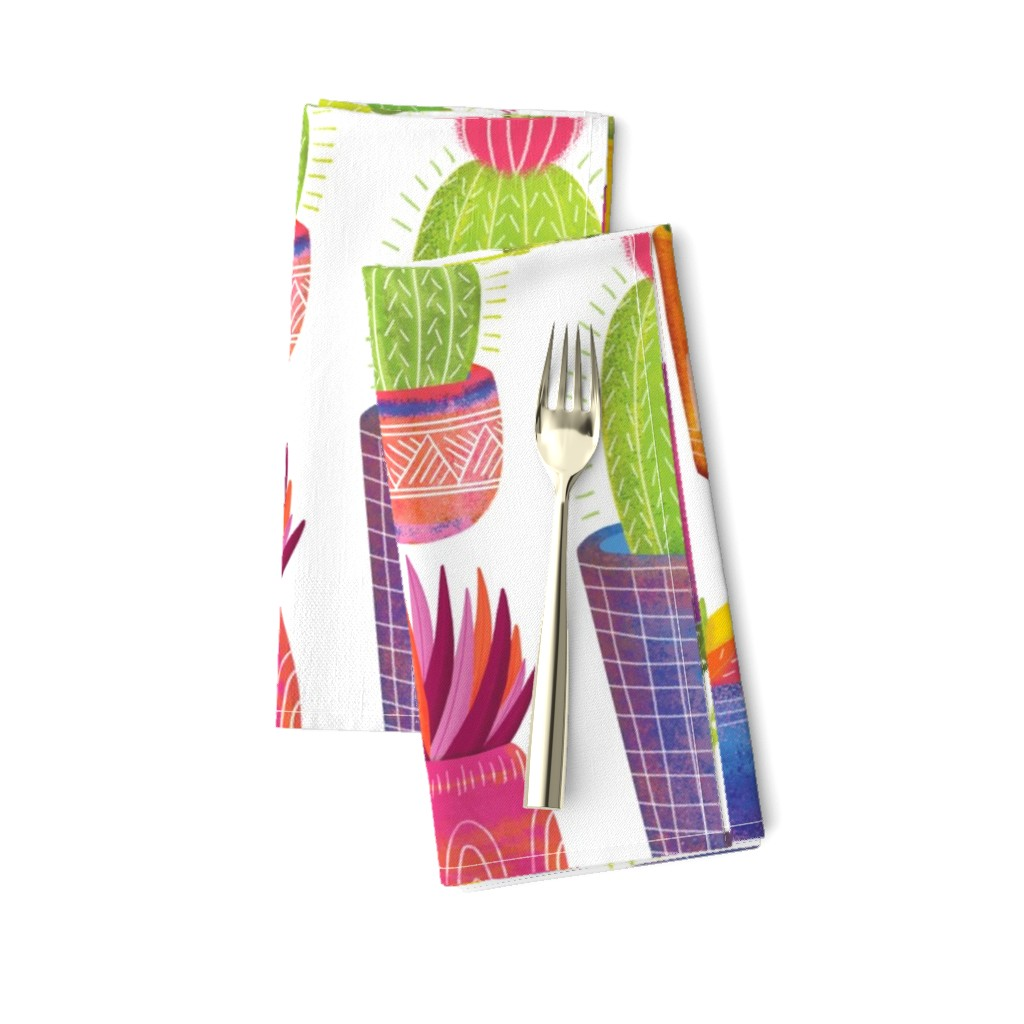 Amarela Dinner Napkins featuring Cactus by quietly_fiery