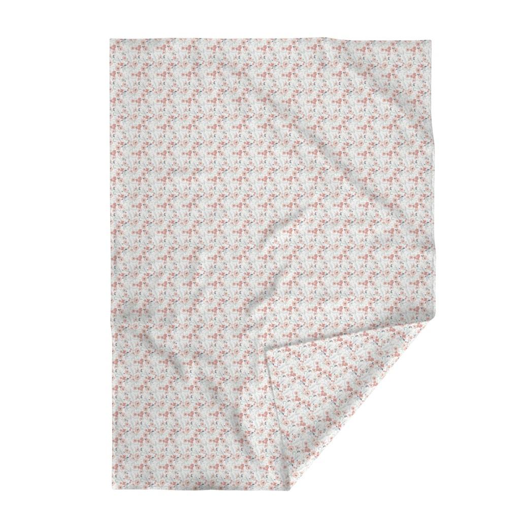 Lakenvelder Throw Blanket featuring Small-Medium Soft Meadow Floral by sweeterthanhoney