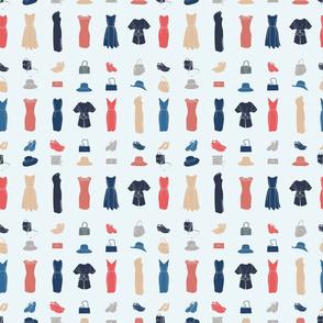 White_Dresses_Stripes_Modern_Stock
