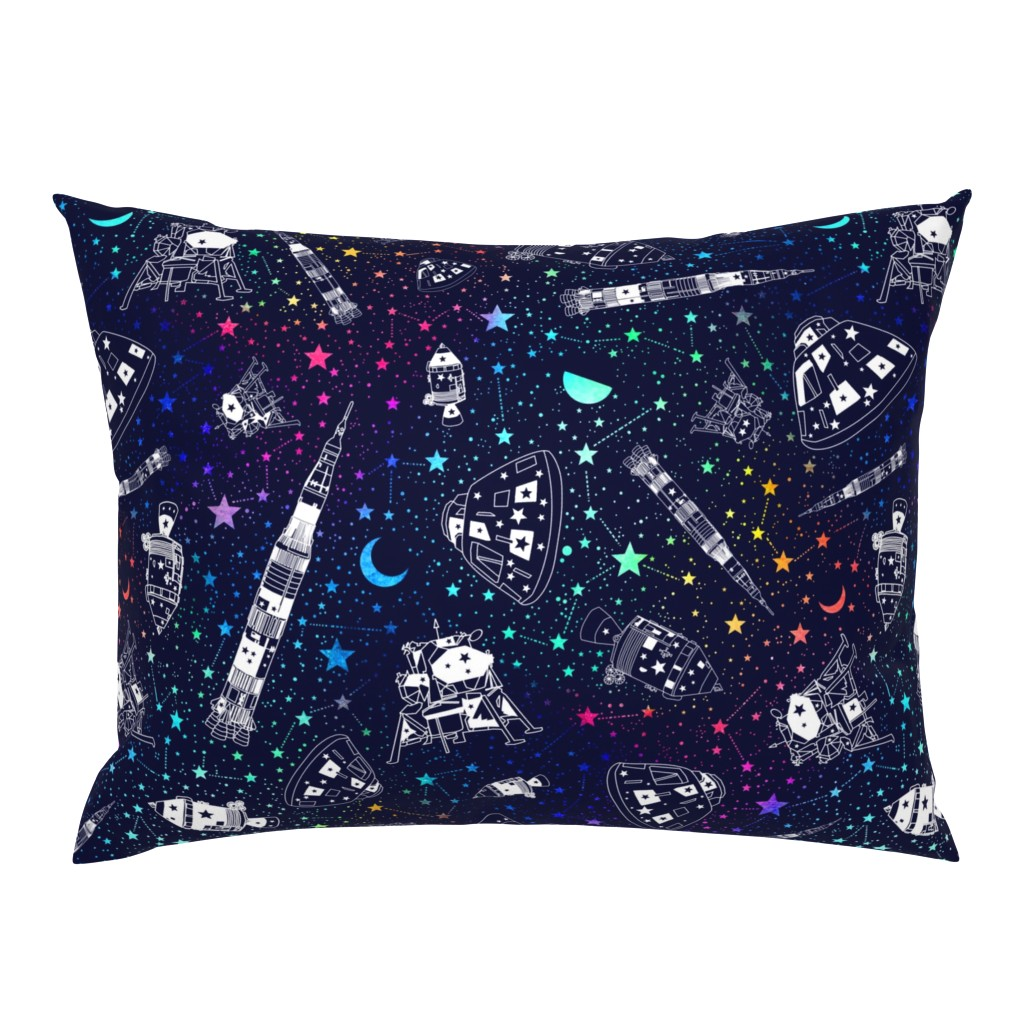 Campine Pillow Sham featuring Off to the moon by emeryallardsmith