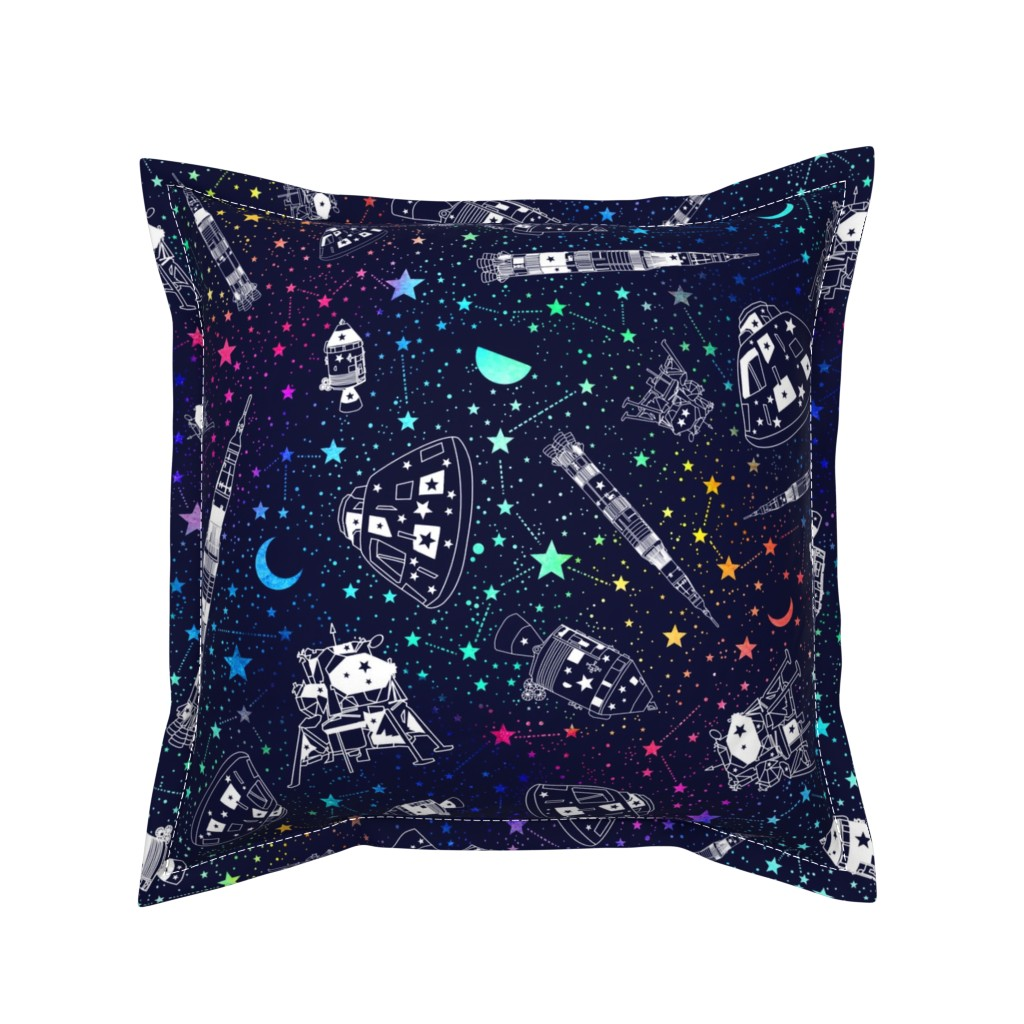 Serama Throw Pillow featuring Off to the moon by emeryallardsmith