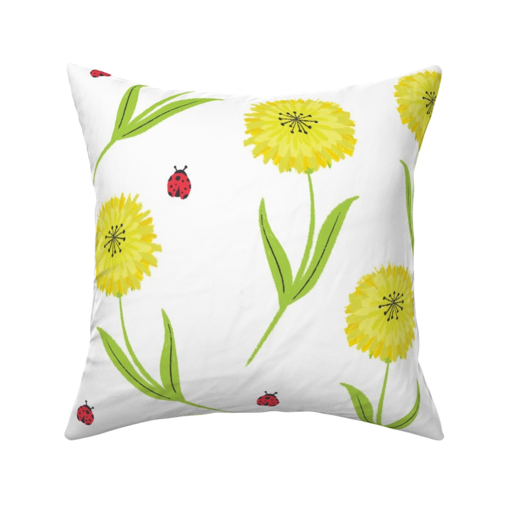 Catalan Throw Pillow featuring Ladybugs by quietly_fiery