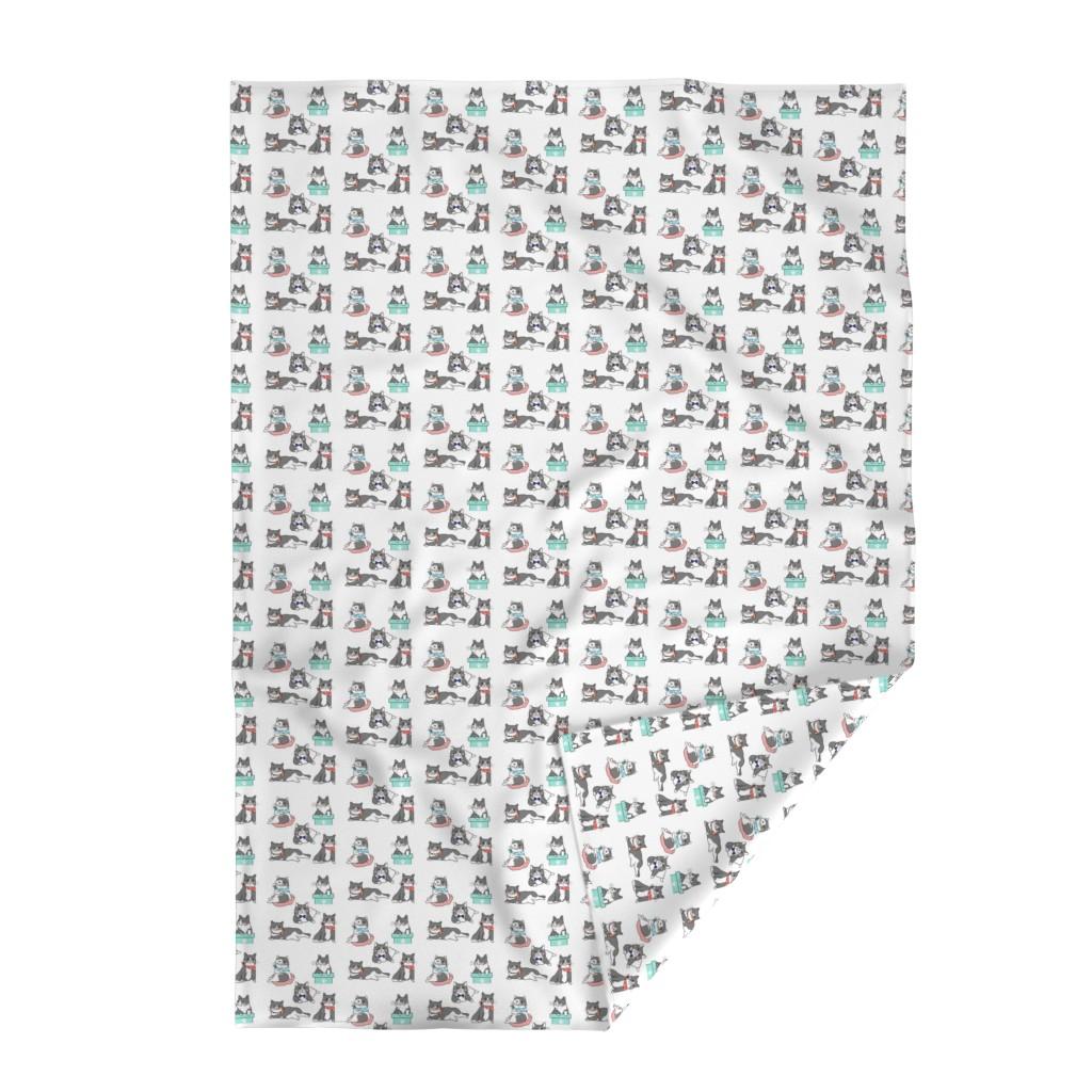 Lakenvelder Throw Blanket featuring Cute Cats In Ties Pattern by gypsea_art_designs
