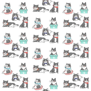 Cute Cats In Ties Pattern