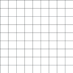 Two inch Black and white grid fabric