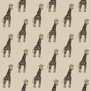 safari nursery giraffe fabric - neutral fabric, neutral nursery fabric, giraffe fabric,  - tan