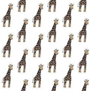 safari nursery giraffe fabric - neutral fabric, neutral nursery fabric, giraffe fabric,  - white
