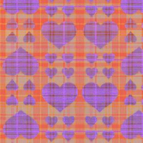 scotch hearts  orange purple