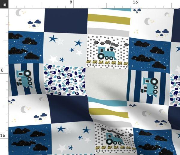 Junge Streifen Sterne Marineblau Jungen Grau Kinderzimmer