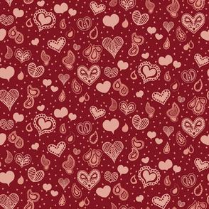 Paisley Heart Patterns