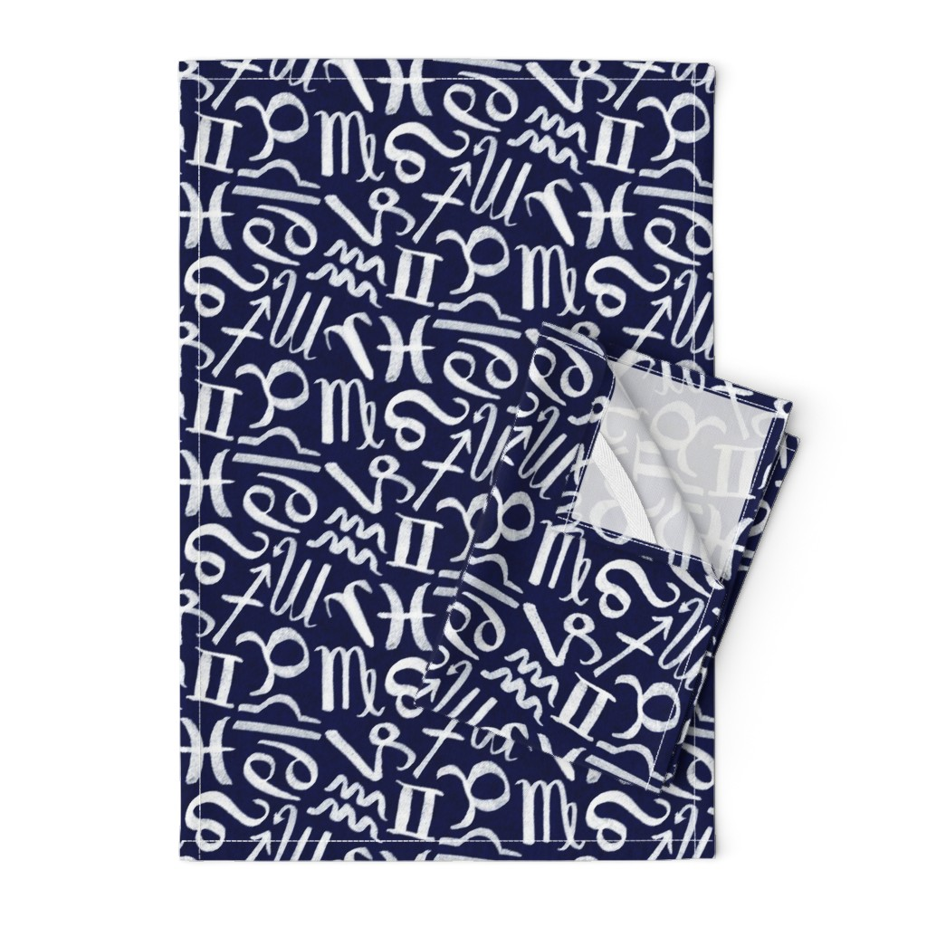 Orpington Tea Towels featuring Symbols of Astrology -  Compact by autumn_musick